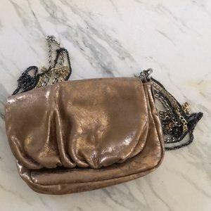 NWT ~ Gold distressed Gap 4 chain strap purse